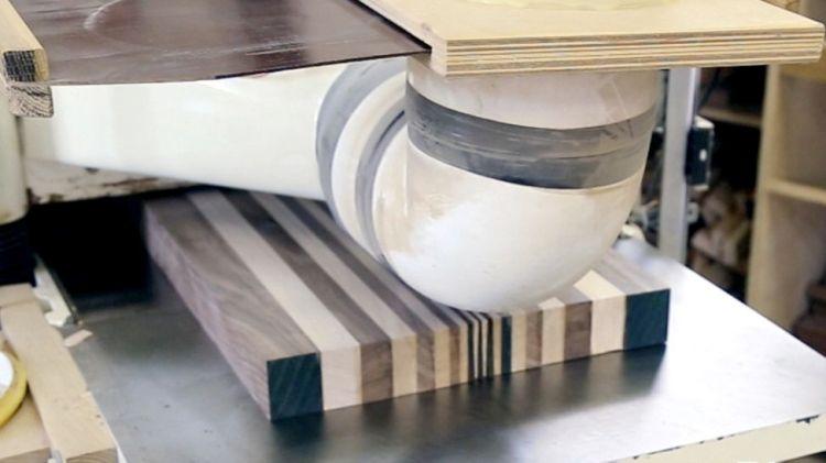 3D end grain cutting board #1