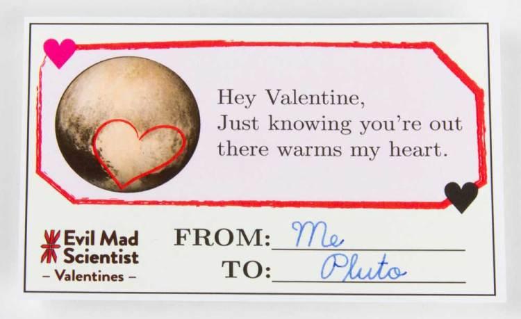 Evil Mad Scientist Pluto Heart Valentine