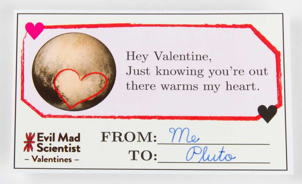 Evil Mad Scientist Pluto Heart Valentine