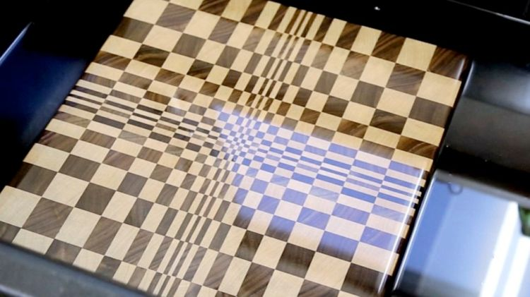 3D end grain cutting board #1