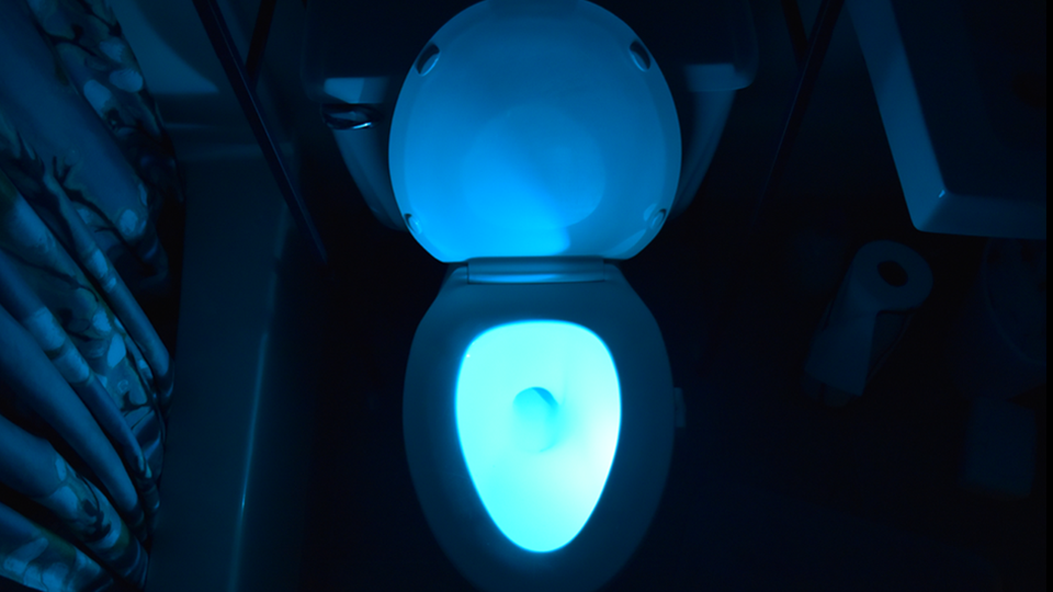 The Illumibowl A Toilet Nightlight With A Range Of Colors