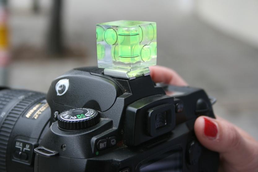 Level Camera Cube on Camera