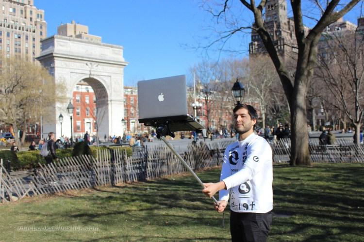 Macbook Selfie Stick Washington Square Park