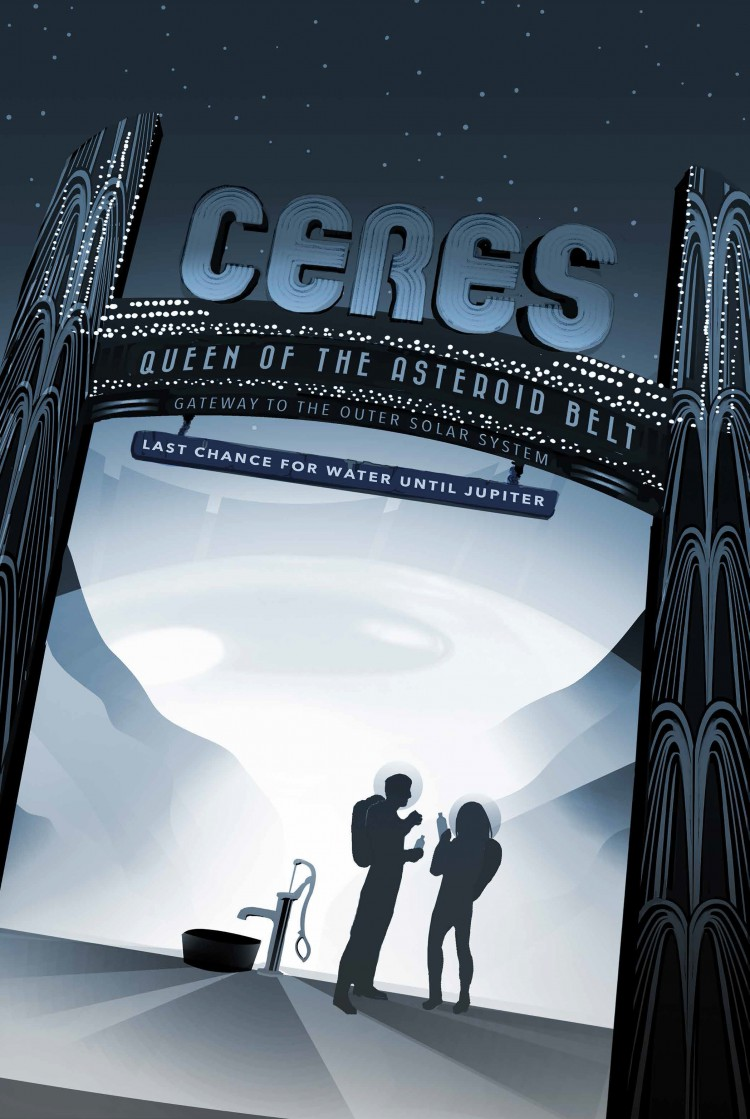 NASA Travel Ceres Poster