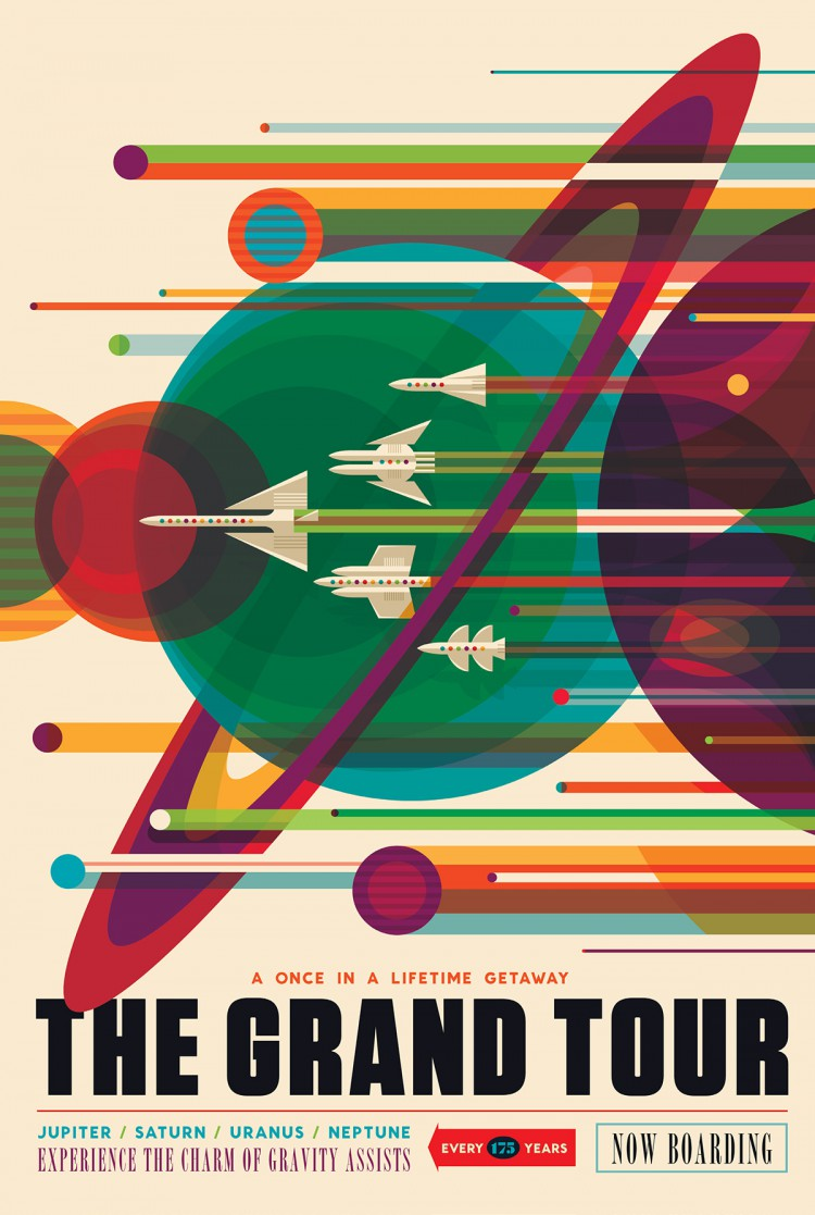NASA Releases Series of Beautiful Space Travel Posters to Show a Vision of Our Possible Future
