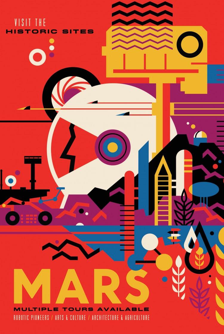 NASA Travel Mars Poster