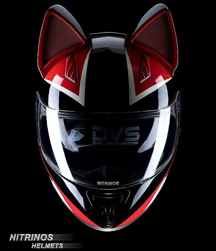 Cat Ear Biker Helmet
