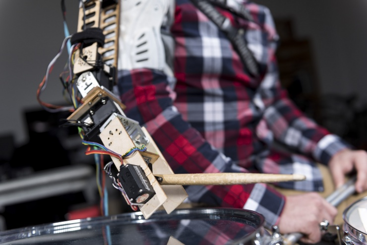 Robotic Drummer Arm Close Up