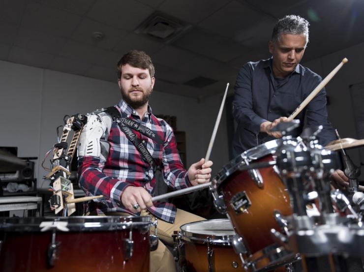 Robotic Drummer Arm in Action