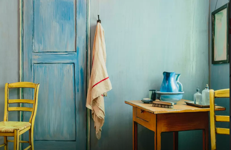 van gogh's iconic painting 'bedroom in arles' physically recreated