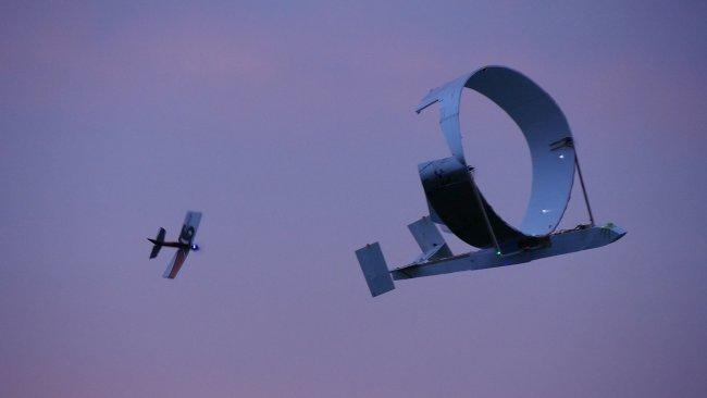 Super Circle Plane Damaged but Airborne