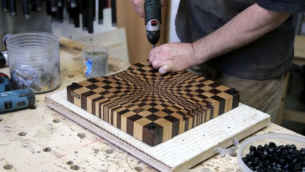 How To Create An End Grain Wood Cutting Board With A
