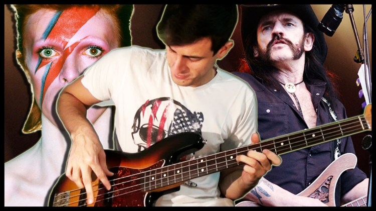 A Brilliant Bass Mashup of Bowie's 'Let's Dance' Combined With Motörhead's 'The Ace of Spades'
