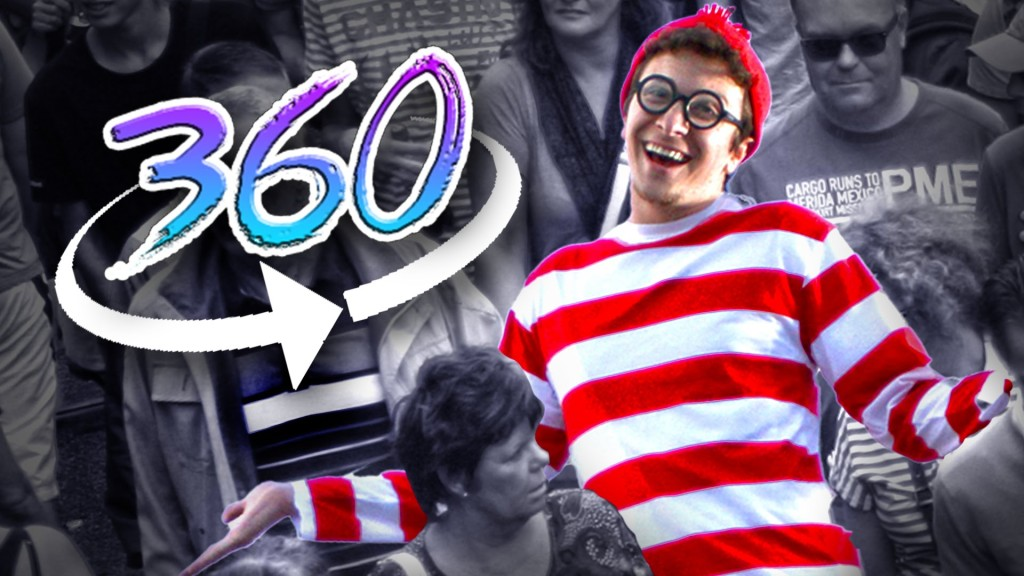 A Real Life Version of the Where's Waldo? Puzzle Game in an Interactive 360 Degree Video