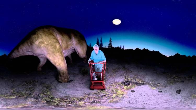 David Attenborough Meets a Virtual Titanosaur in a Striking 360° Video Produced by the BBC