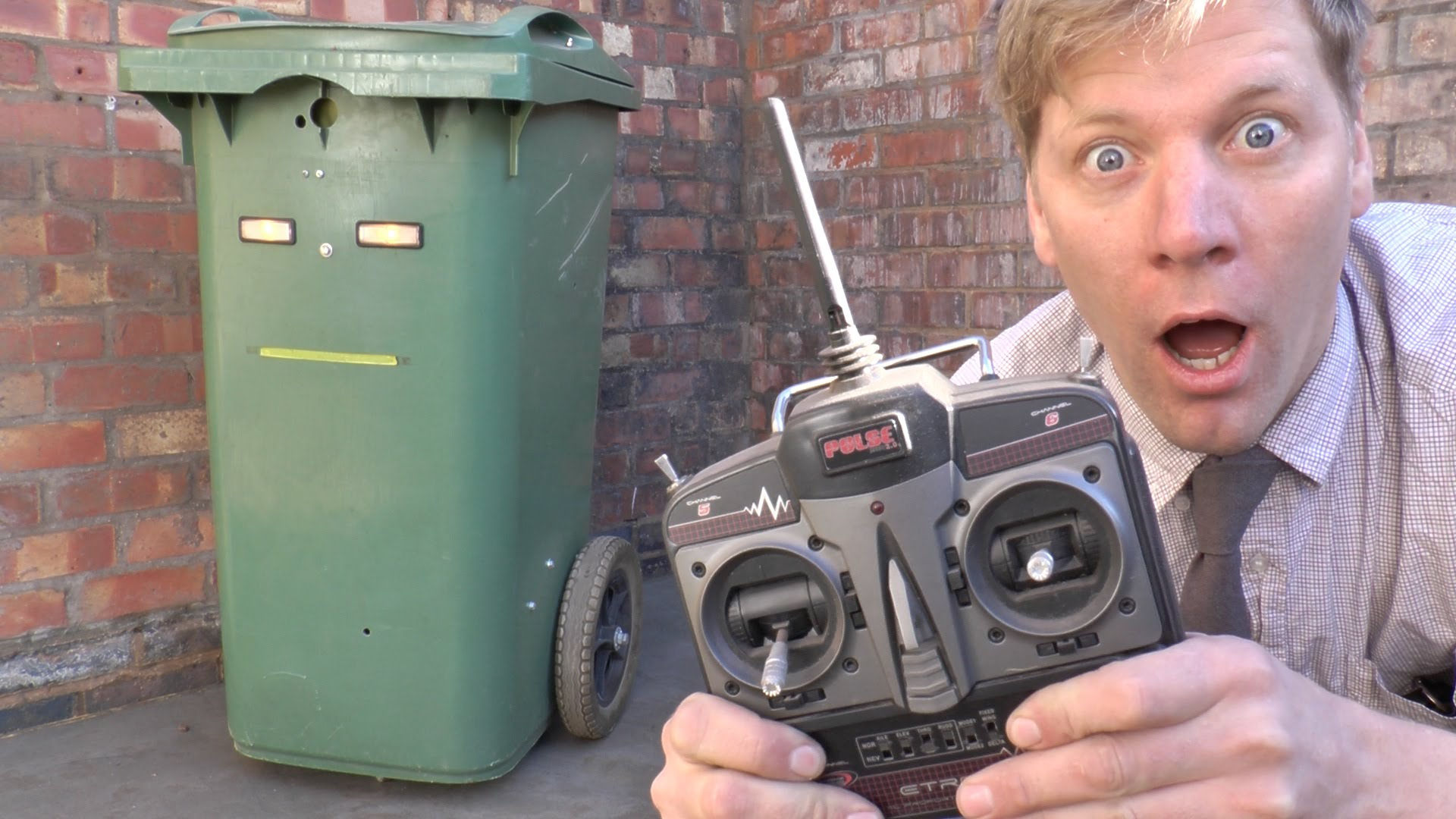 Inventor Colin Furze Builds A Remote Controlled Garbage