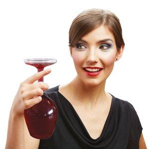 Upside Down Wine Glass Woman