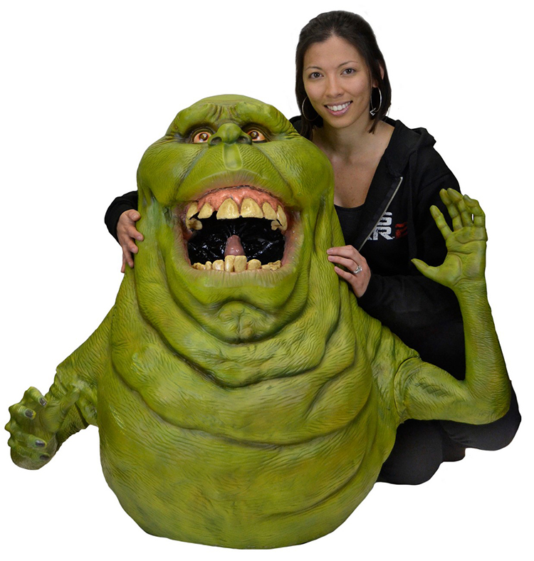 A Life Size Foam Replica Of Slimer From The 1984