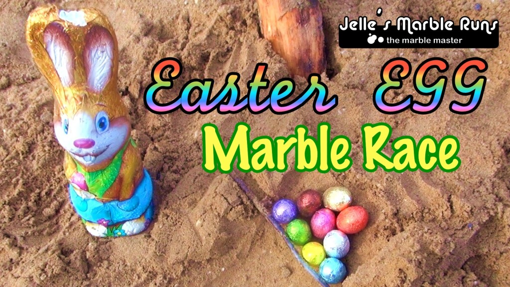 Dutch Marble Racer Sends Colorful Easter Eggs Down a Hollowed Sandy Channel