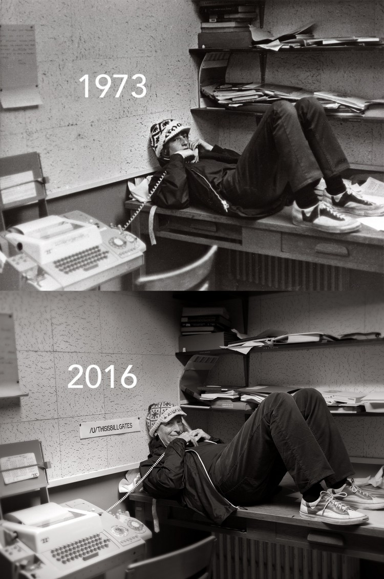 Bill Gates Year Book Recreation Photo