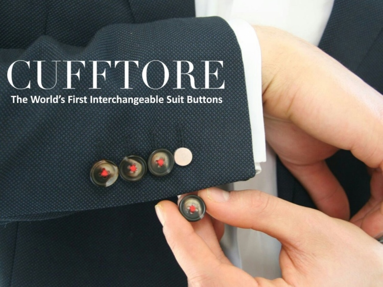 Cufftore First Interchangeable Suit Buttons