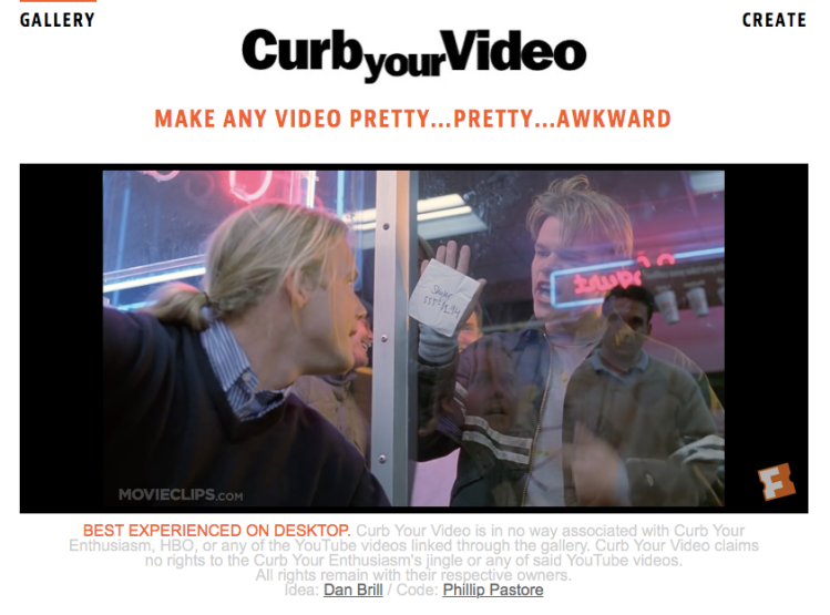 Curb Your Video Good Will Hunting