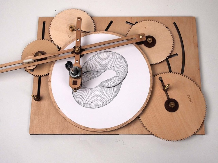 Cycloid Drawing Machine Four Gear Configuration