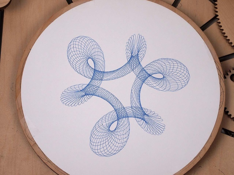 Cycloid Drawing Machine Six Point Figure