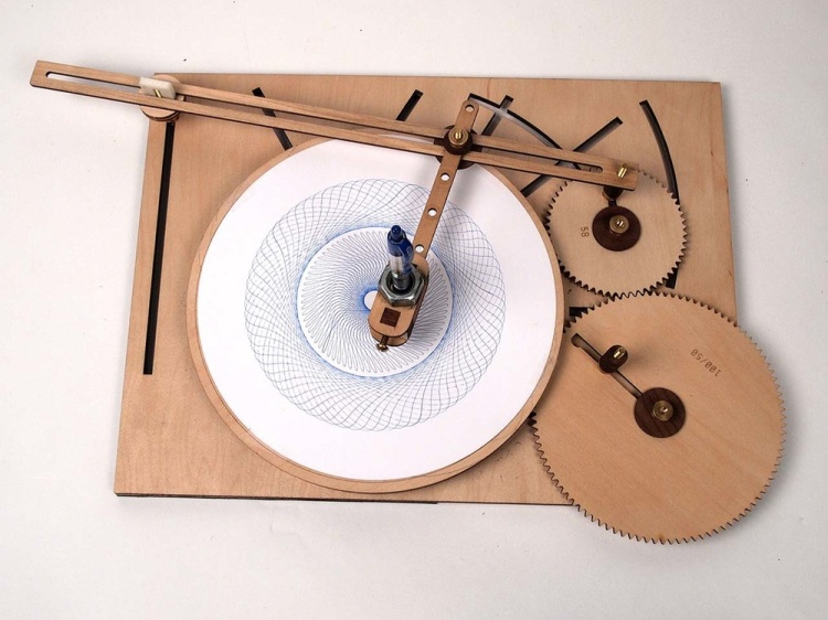 Cycloid Drawing Machine Two Gear Configuration