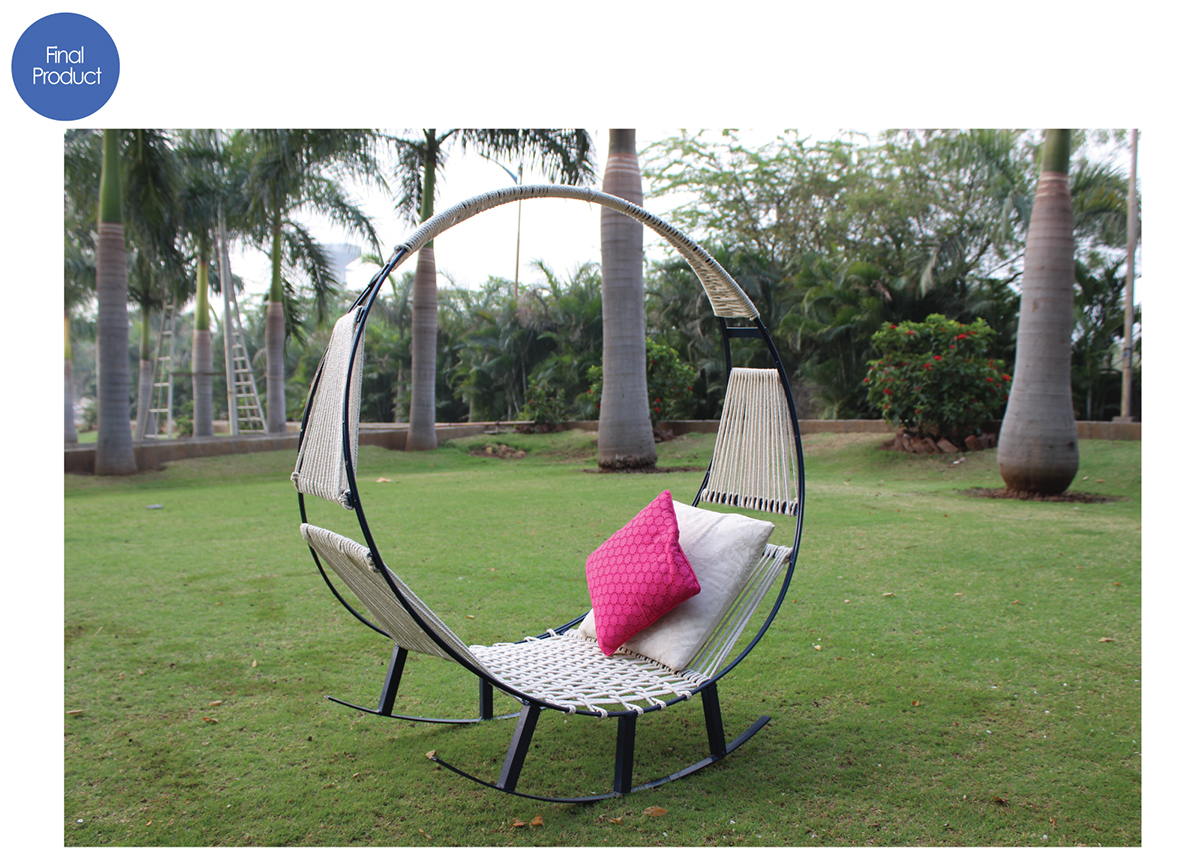 A Relaxing Piece of Outdoor Furniture That Combines a Hammock With a Rocking Chair