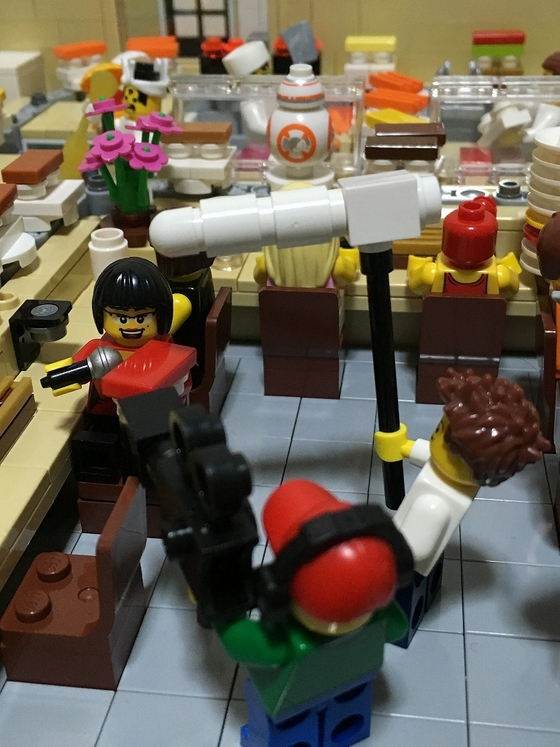 LEGO Sushi BB8 and News Crew