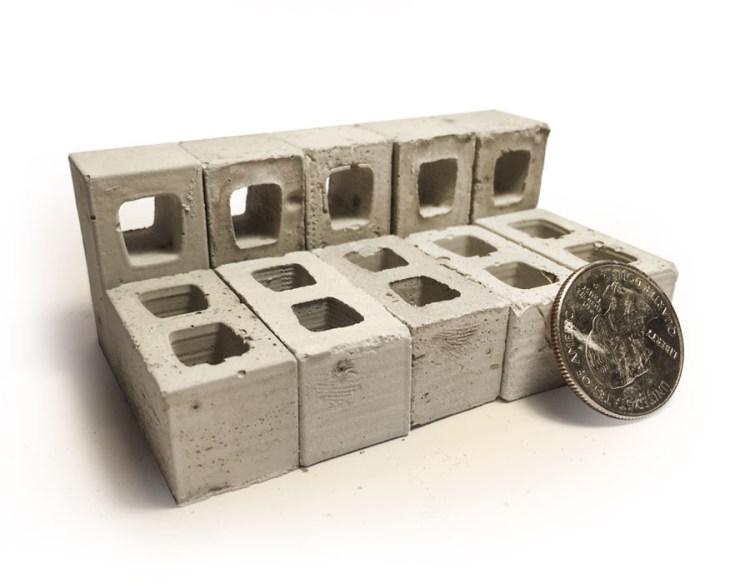 Mini Materials Concrete Blocks and Quarter