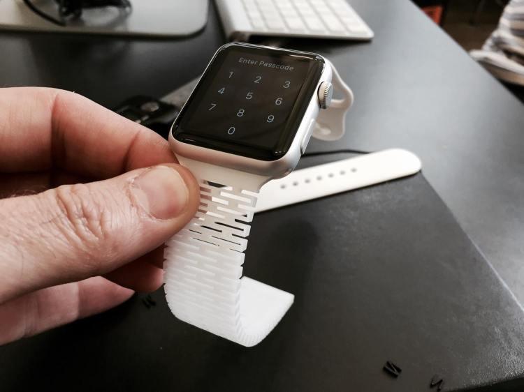 OpenBand White on Watch