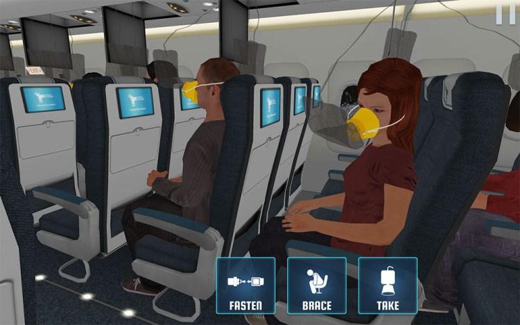 Prepare for Landing Oxygen Masks