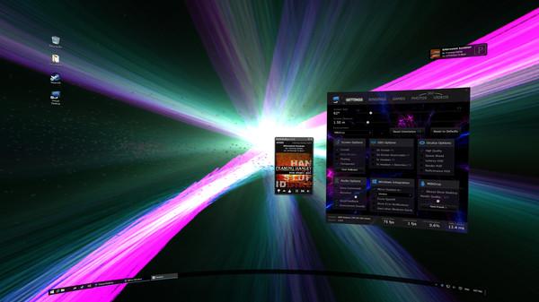 Virtual Desktop WinAmp Visualizer