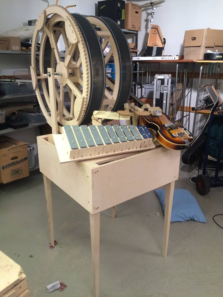 Wintergatan Marble Machine Being Assembled