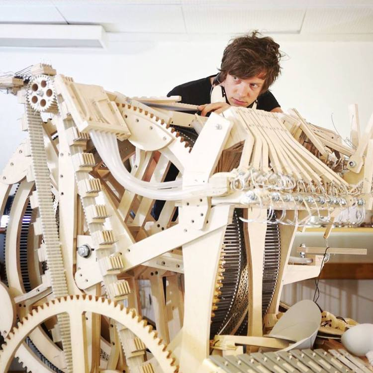 Wintergatan Marble Machine in Progress