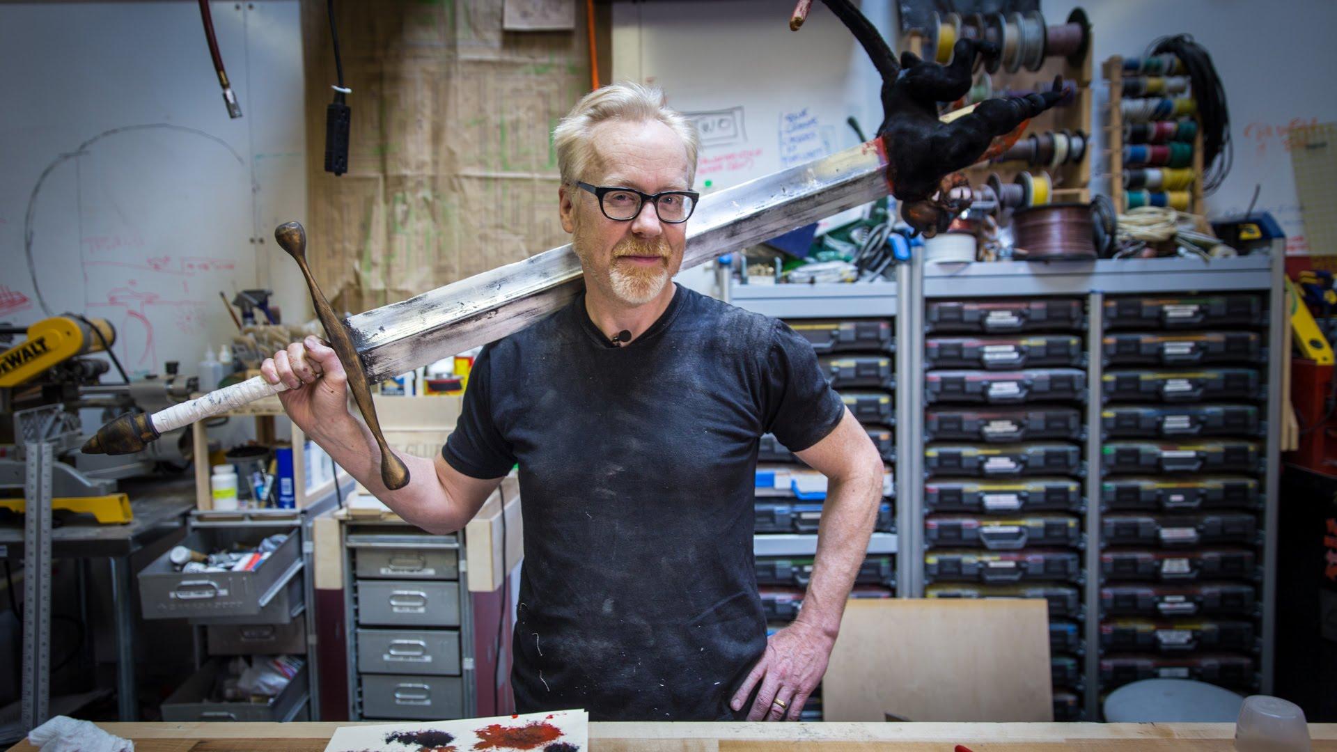 Adam Savage Builds Hellboy S Massive Sword Complete With