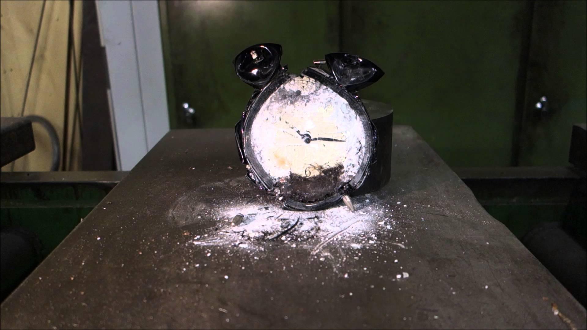 Crushing A Ringing Alarm Clock