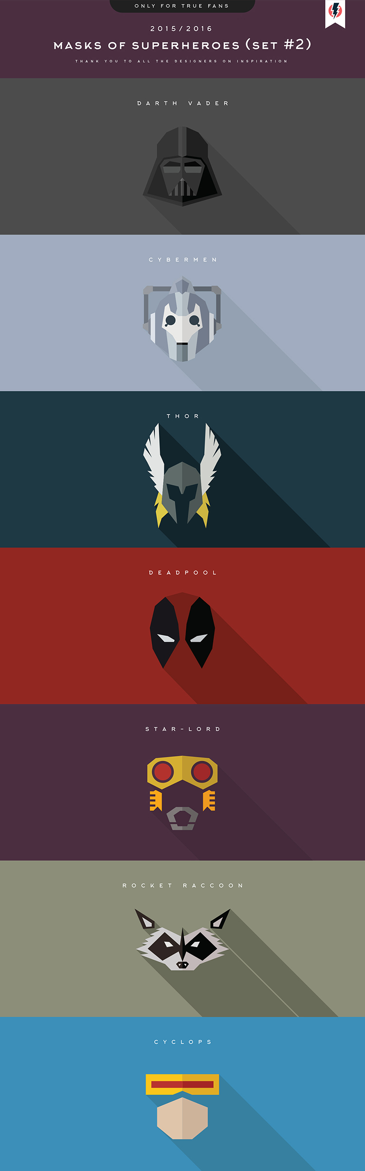 Masks of SuperHeroes