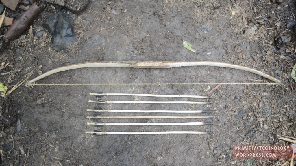 How to Construct a Bow and Arrows Using Only Primitive Stone Tools
