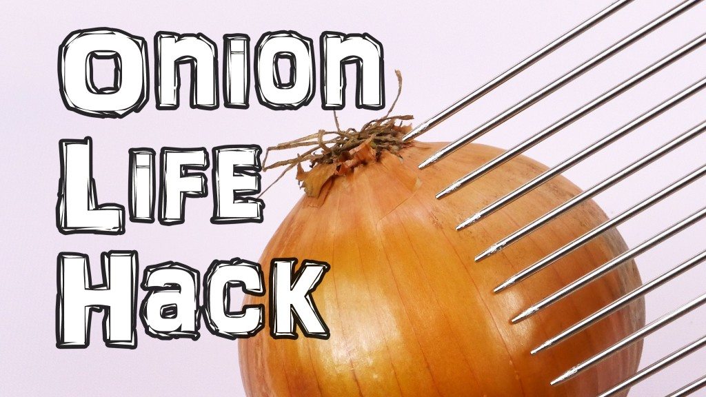 How to Quickly and Safely Cut Onions Using a Hair Pick With Stainless Steel Prongs