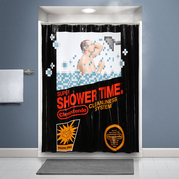 awesome shower curtain. Retro Gaming Shower Curtain Awesome E