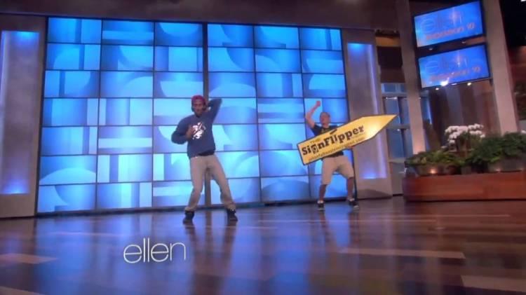 NONSTOP & Amazing Sign Flipper Julian Falkenstein Appear on Ellen