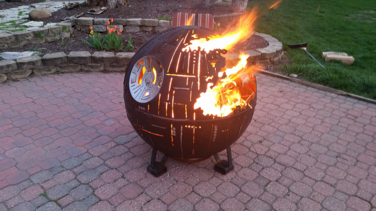 Attractive Star Wars Death Star Fire Pit Part - 1: Laughing Squid