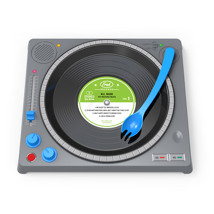 DINNER DJ  sc 1 st  Laughing Squid & DINNER DJ An Interactive Kids Dinner Set That Looks Like a Turntable