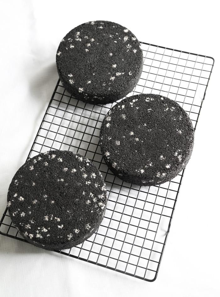Black Velvet Nebula Cake