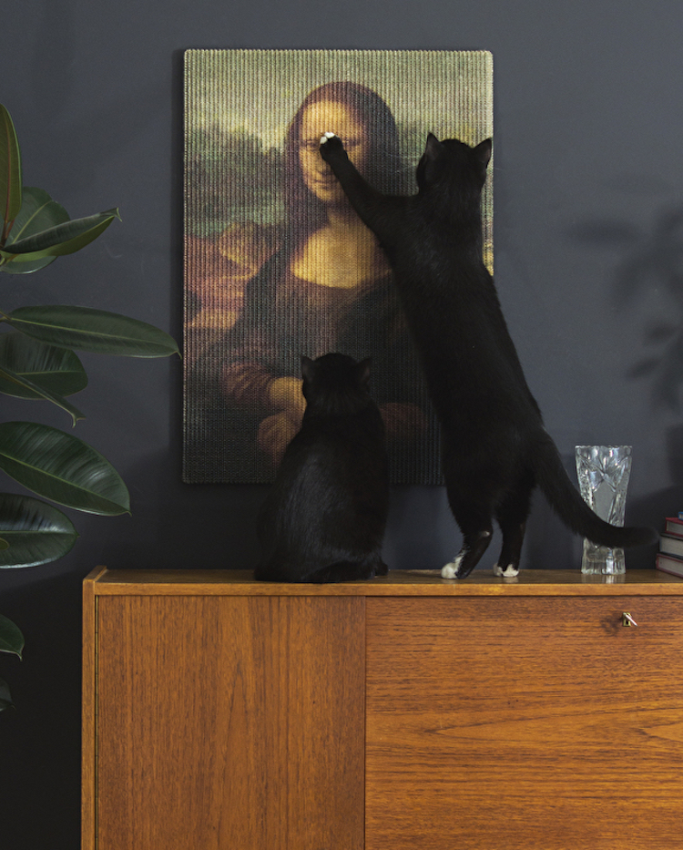 Copycat Art Scratcher, Fine Art Wall Hangings That Are Made Especially for a Cat's Claws