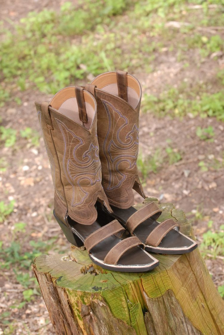 redneck boot sandals a handy service that turns worn out