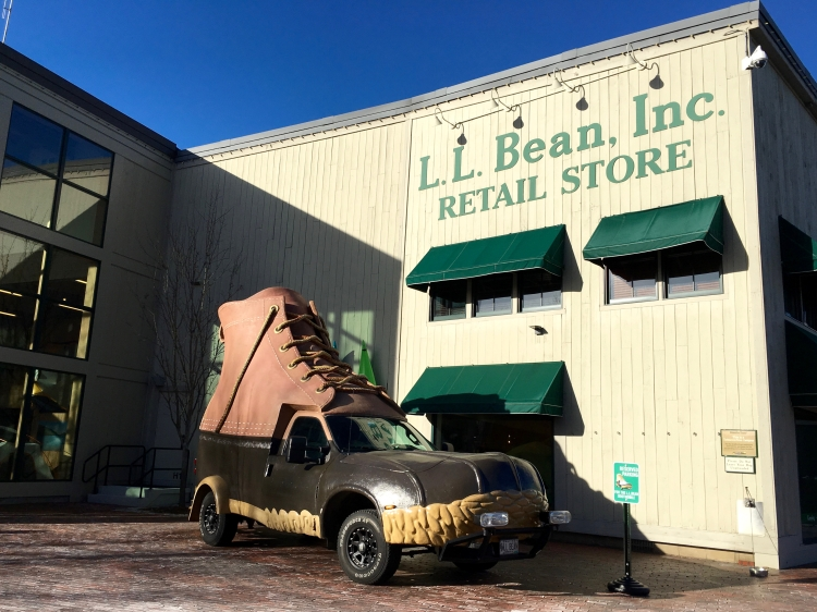 The Original L.l.bean Boot >> The L.L.Bean Bootmobile in Freeport, Maine